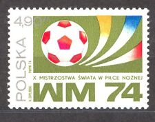 POLAND 1974 **MNH SC#2036a STAMP, S MEDAL, SOCCER MU`74