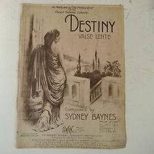 salon piano DESTINY valse lente , sydney baines 1912