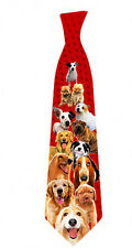 Dogs tie men neck tie pet lover tie veterinarian gift dog lover Polyester ITATI