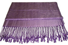 Purple Pashmina & Silk Shawl Scarf