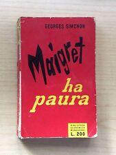 LIBRI - GIALLI/THRILLER MONDADORI - N°49 1956 - MAIGRET HA PAURA DI G.SIMENON