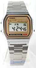Casio A-158WEA-9 Classic Digital Watch Stainless Steel Alarm Stopwatch New