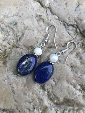 Magnifique Boucles d'oreilles Lapis-lazuli en Argent 925