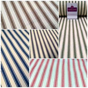 "Canvas Power Loom 8mm Ticking Stripe 100% Cotton fabric 54"" Wide M1040 Mtex"