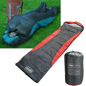 4 Season Mummy Sleeping Bag Dual Zip Camping Hiking Outdoor with Carry Bag