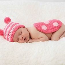 Mud Pie Little Star Newborn Photography Prop Ladybug Knit Set