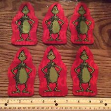 Style#7 The Grinch Who Stole Christmas Fabric Iron On Appliques - Christmas