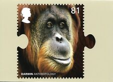 ROYAL MAIL STAMP POSTCARD<>DARWIN<>ANTHROPOLOGY