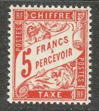 France 1941 MNH OG Mi 69 Sc J45A Postage Due stamp. 5Fr **