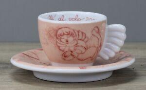 Thun Weihnachten coffee al volo 2002 rosa Espressotasse Tasse mit Unterteller