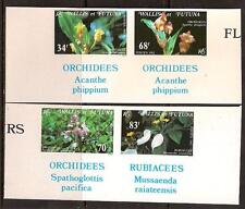 WALLIS FUTUNA ISL 1982 FLOWERS ORCHIDS PAIRE IMPERF  SC # 283a-286a MNH