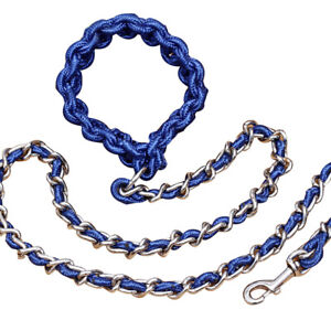5.5 FT Heavy Duty Dog Leash with Chain for Aggressive Dog Barkproof Dog Lead