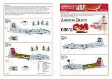 """NEW 1:48 Kits World Decals 48001 Boeing B-17G Flying Fortress """"American Beauty"""""""