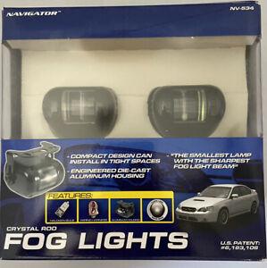 "WHITE DRIVING BUMPER FOG LIGHTS 2-3/8"" x 2"" 12V 55W H3 (fit Honda)"