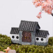 Garden Ornament Miniature Figurine Chinese Style House Dollhouse Decor