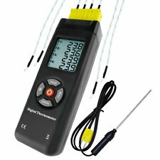4 Channel K-Type Thermocouple & Bead Probe Thermometer Temperature Instrument