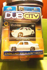 Muscle Machines Dub City White Cadillac Escalade EXT, 5 Star Silver Rims C More
