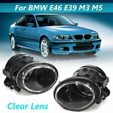 Pair Front Fog Lights Lamps Clear For BMW 3 Series E46 Coupe M-Sport 1998-2004