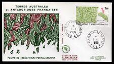 TAAF 1989 FDC SG246 BIECHNUM PENNA MARINA - PLANTS THEME