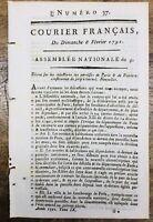 Poitiers en 1791 Bourbon-Lancy Chorges Embrun Grenoble Aisne Palais Royal Paris
