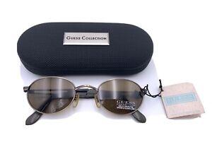 Guess Sunglasses GU5035 220-1 Oval Antique Bronze Brown Lenses VINTAGE NIB NOS