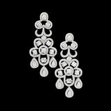 Chandelier White Gold 14k Fine Earrings