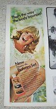 1972 print ad - sexy blonde girl -Dippity-Do hair Balsam set Vintage Advertising