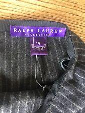 RALPH LAUREN COLLECTION Purple Label $990 Pinstripe Hi-Rise Wide Leg Pants 4