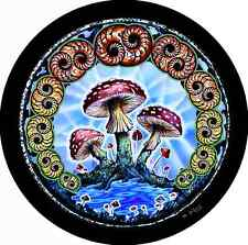 Mushroom Hippie Spare Tire Cover Fits jeep, rv, campers, trailers, backup camera