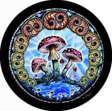Mushroom Hippie Spare Tire Cover Wheel Cover Jeep Rv Camper Trailer(all sizes)