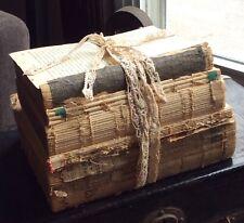 Shabby Chic Book Decor Bundle Natural White Unbound Decorative Vintage Book Lot