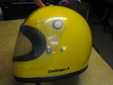 RARE TO FIND YELLOW 70s ARAI CHALLENGER X 75  MOTORCYCLE RACE HELMET SIZE L NICE