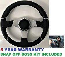 RACE SPORT STEERING WHEEL AND SNAP OFF QUICK RELEASE BOSS HUB KIT FIT BMW E36
