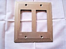 Satin / Brushed Brass Architectural 2 Toggle / Rocker / Dacora Wall Plate