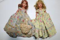 "2 Vintage Storybook 6 1/2"" Bisque Dolls"