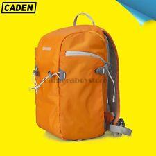 Caden Camera Backpack SLR DSLR Digital Camera Bag Waterproof Orange