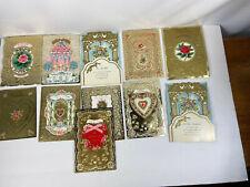 11 Vtg Hallmark Golden Greetings Valentines Asst Cards Unsigned No Envelopes
