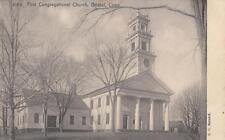 Antique POSTCARD c1907 First Congregational Church BRISTOL, CT 19128