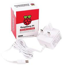 Official Raspberry Pi 4 Power Supply USB to Type-C Adapter - UK Plug (White)