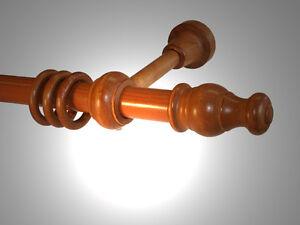 Gardinenstange Holz 28 mm Kirschbaum