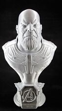 "3D Printed Thanos Bust - 9"" Tall - Silver - Free Shipping!"