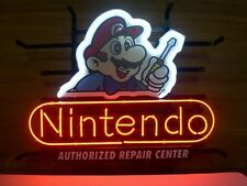 "Classic Nintendo Super Mario Real Glass Neon Light Sign Game Room Sign 17""x14"""