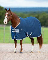 "Horseware Ireland Amigo Stable Sheet Navy w/ Silver Trim Horse Sheet 66"" 75"" 84"""