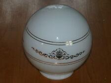 Vintage Ceiling Light Shade White with Golden Pattern Glass Ceiling Light Globe