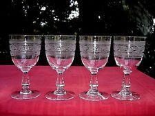 BACCARAT ATHENIENNE WINE GLASSES VERRES A VIN CRISTAL GRAVÉ GRECQUE GREC GRECE A