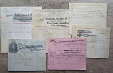 Lot ephemera late 1800s store receipts Goldsmith Tuthill Cutchogue New York City