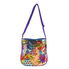 LAUREL BURCH Crossbody Shoulder Bag ~ BLOSSOMING WOMAN ~ Foiled Canvas ~ New