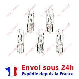 5 Ampoules 1,2w 12v T5 afficheurs ou compteur Hyundai Kia Mercedes Opel Toyota