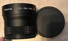 Tokina.22X 58MM Ultra Wide Fisheye Lens w/ both covers great shape