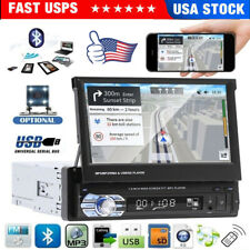 """New listing 7"""" Single 1 Din Flip out Touch Screen Car Mp5 Stereo Radio Bluetooth with Camera"""